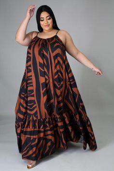 Plus Dress Plus Size Work Dresses, Plus Size Dresses, Plus Size Outfits, Cute Dresses, Curvy Fashion, Plus Size Fashion, Mocha Dress, African Print Dress Designs, Denim Maxi Dress
