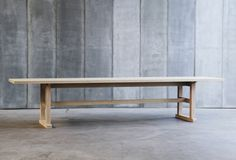 Trappist table - made to measure in French Oak by Heerenhuis