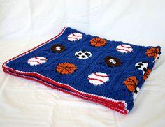 b5ab71fc801 Sports balls afghan PDF crochet PATTERN by lovinghandscrochet Afghan Crochet  Patterns
