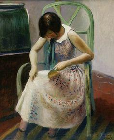 Guy Pène Du Bois  Girl Reading a Book  1929