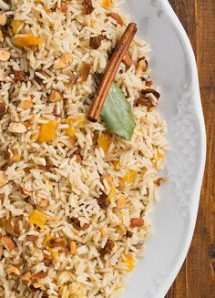 A fragrant and exotic side dish recipe. Basmati rice gets cooked with dried fruit and spices for an unforgettable experience!