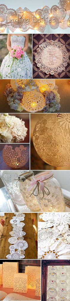 Darling Doily Wedding Decor - Precious!