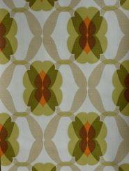 groen bruin oranje geometrisch behang