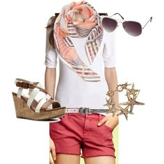 cruise outfit: I love the shorts color