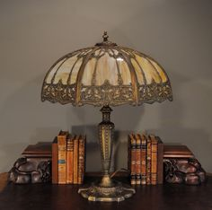 ORNATE ANTIQUE TABLE LAMP........SOURCE RUBYLAND.........