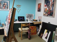 My studio at Western Ave Studios in Lowell, MA