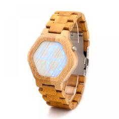 BOBO BIRD Bamboo Wood Digital Wrist Watches Japan Quartz Hombre for Men Analog Simple Clock Wholesale in China Factory Watch Vikings, Digital Wrist Watch, Wooden Watches For Men, Led Watch, Cool Watches, Wrist Watches, Women's Watches, No Waste, No Plastic