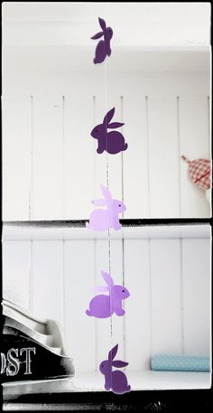 DIY:  Hasen an der Schnur by http://titatoni.blogspot.de/