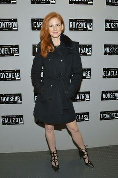 Sarah Rafferty Photos Photos: Mercedes-Benz Fashion Week Fall 2014 - Official Coverage - People And Atmosphere Day 3 Sarah Rafferty, Front Row, Spring Summer, Punk, Suits, Coat, Mercedes Benz, People, Jackets