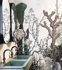 Lovely with waterproof wallpaper from @wallanddeco