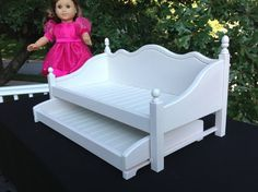 Daybed With Trundle For 18 In American Girl Doll