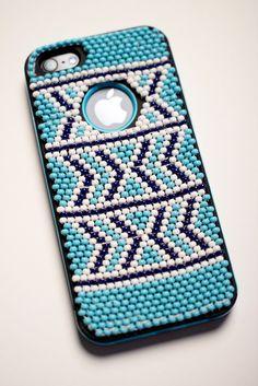 Beaded iPhone case by Vukile Batyi