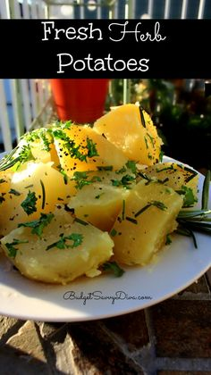 My husband who loves EVERYTHING fried --- is addicted to these gluten - free potatoes. Simple and fresh --- pure yum!