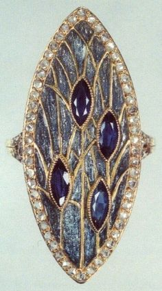 Georges Fouquet – was a French jewelry manufacturer Enamel Jewelry, Gems Jewelry, Bling Jewelry, Jewelry Art, Diamond Jewelry, Antique Jewelry, Jewelery, Vintage Jewelry, Jewelry Accessories