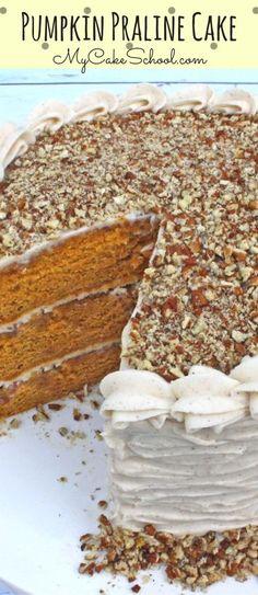 Amazing Pumpkin Praline Cake Recipe by MyCakeSchool.com!