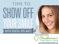 Dental Implants in Chennai: Dental Implants are for those who want to Smile with confidence.So get it soon and live your dreams ! Most appropriate Dental Implants for you from Chinthamani Laser Dental Clinic. Click http://dentalimplantsindia.org to view more