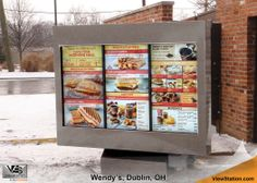 Wendy's Dublin, OH - ViewStation QSR Drive-Thru Menu Boards & Digital Signage by ITSENCLOSURES #ViewStation
