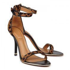 Givenchy leopard ankle strap sandals heels