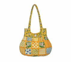 .....Handmade Summer Handbag Yellow Blue Gold Flowers Tote by craftcrazy4u, $35.00.....