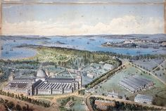 Garden Palace, Sydney by JT Richardson Credit: Mitchell Library, State Library of NSW / Pub/ Gar Royal Botanic Gardens Sydney, Sydney Gardens, Sydney Map, Sydney City, Aboriginal History, Exhibition Building, Historical Architecture, New South, Historical Pictures