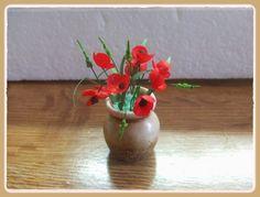 Tutorial de amapolas y espigas. en miniatura. Mi pequeño hogar: Cómo hago las amapolas