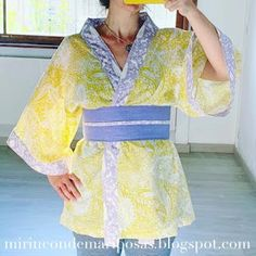 mi rincón de mariposas: Kimono (tutorial) Tutorial Kimono, Boro, Free Pattern, Kimono Top, Couture, Sewing, Crochet, Patterns, Women