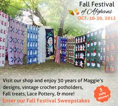Fall Festival of Afghans at Maggie's Crochet