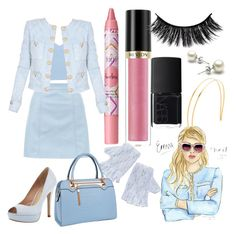 """Chanel Scream Queens Inspired"" by moonlightbaeariana on Polyvore featuring New Look, Balmain, tarte, Revlon, NARS Cosmetics, Mrs. President & Co., Pour La Victoire and Relaxfeel"