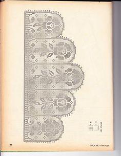 Filethäkeln Gardine , Filet crochet curtain