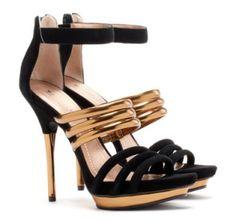 Looking Feeling Great Gold Black Stilettos 3 9643 Black Stilettos, Sexy High Heels, Jimmy Choo, Shoe Boots, Shoes Heels, Gold Heels, Christian Louboutin, Prada, Gucci