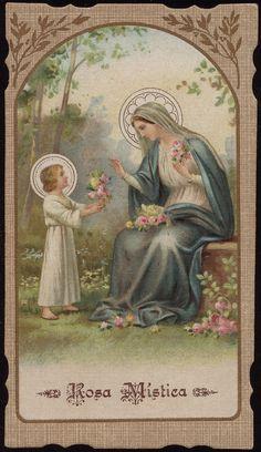Rosa Mystica holy card