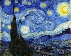 The Starry Night Vincent Van Gogh 1889 Classic Art Print Poster