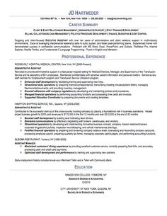 executive assistant resume sample httpwwwresumecareerinfoexecutive