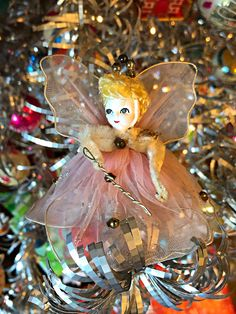 Sweet little angel Christmas ornament.