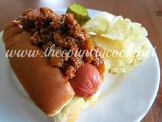 The Country Cook: Southern Style Hot Dog Chili
