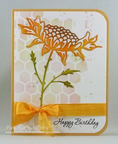 Sunflower by lotsofstamps - Cards and Paper Crafts at Splitcoaststampers Homemade Greeting Cards, Homemade Cards, Cards Made With Unbranded Dies, Sunflower Cards, Memory Box Dies, Die Cut Cards, Card Making Inspiration, Paper Cards, Cardmaking