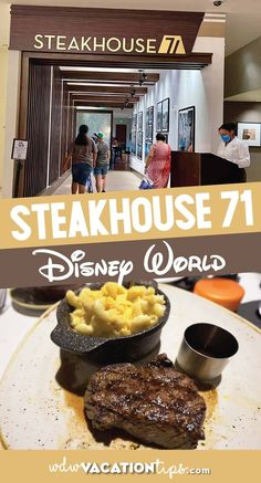 The former location of the Wave of American Flavors has transformed into Steakhouse 71 for the 50th anniversary in 2021. Located on the first floor of Disney's Contemporary Resort it is open for breakfast, lunch, and dinner. Today we are just going to take a look at our experience of coming here for dinner. Best Disney World Restaurants, Disney World Food, Disney Drinks, Disney Snacks, Top Sirloin Steak, Dinner Today, Disney Dining Plan, Dried Figs, Disney Tips