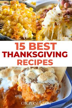15 BEST Thanksgiving Recipes To Impress Your Family And Friends! Looking for the best Thanksgiving dinner ideas, side dishes, appetizers or desserts? We have them all! You'll find the best traditional Thanksgiving recipes with turkey and sweet potato, as well as Southern inspired dishes like cornbread and mac and cheese, as well as the best stuffing recipes. Click for more cooking inspiration for Thanksgiving food! #thanksgivingrecipes #thanksgivingsidedishes #thanksgiving #traditional #southern Southern Thanksgiving Recipes, Traditional Thanksgiving Recipes, Thanksgiving Dinner Recipes, Thanksgiving Side Dishes, Family Thanksgiving, Southern Desserts, Holiday Recipes, Thanksgiving Traditions, Thanksgiving Crafts