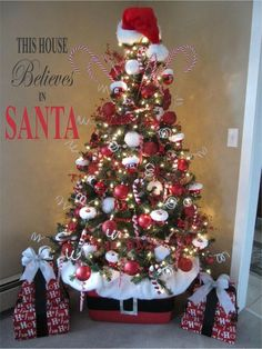 This House Believes in Santa Christmas Decoration Vinyl Wall.- This House Believes in Santa Christmas Decoration Vinyl Wall Letter Words Decal - Primitive Christmas, Christmas Tree Toppers, Santa Christmas, Winter Christmas, All Things Christmas, Christmas Crafts, Christmas Time, Christmas Ideas, Candy Cane Christmas Tree
