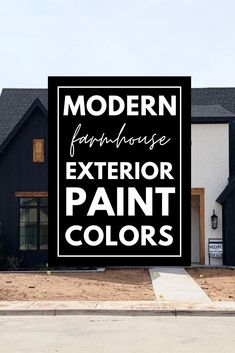 These modern farmhouse exterior paint color combinations are perfect for any home's exterior. Paint your home's exterior with confidence after looking at these great farmhouse exterior color schemes.