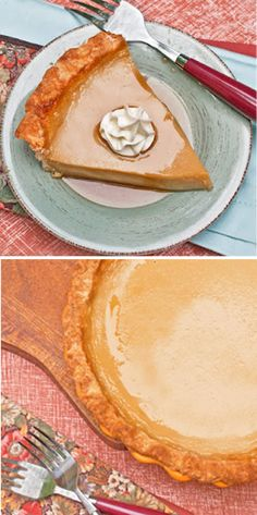 Smooth as Silk Maple Custard Pie - perfect for fall Custard Desserts, Just Desserts, Delicious Desserts, Dessert Recipes, Yummy Food, Custard Pies, Apple Recipes, Sweet Recipes, Fruit Cobbler