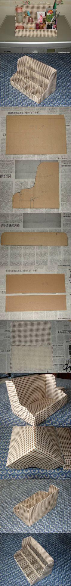 Asztali rendszerező kartonpapírból / DIY Cardboard Shelves Organizer