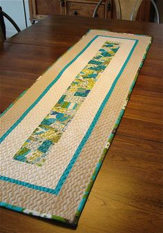 crazy piecing and using crazy pieced sections - love this runner!! and crazy piecing!