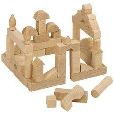 Goki wooden building blocks 51 piece mini set - : The Marble run shop Baby Building Blocks, Block Area, Wooden Buildings, Montessori Toys, Designer Toys, Wooden Blocks, Antique Toys, Educational Toys, Wooden Toys