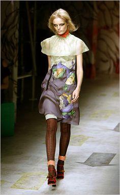 prada art nouveau skirt.