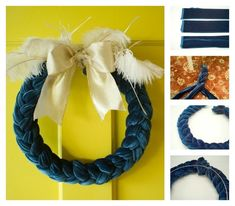 Velvet Braid | 50 Unexpected Wreaths You Can Make Out Of Anything