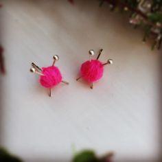 cute knitting earrings :)