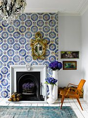 Beautiful Tiled Fireplace