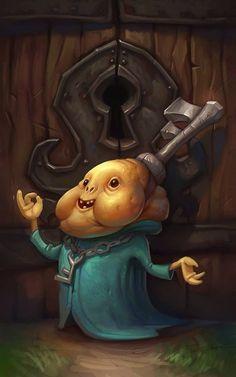 Keyper from Adventure Time. So weird.
