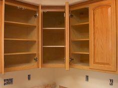 corner upper kitchen cabinets sizes | upper corner cabinet double